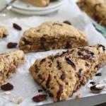 Balsamic cherry dark chocolate scones