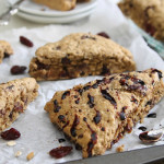 Balsamic Cherry Dark Chocolate Scones