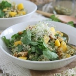 Barley Mango Salad with Avocado Dressing