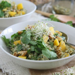 Barley Mango Salad with Avocado Yogurt Dressing