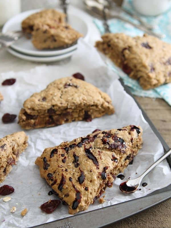 Balsamic Cherry Scones