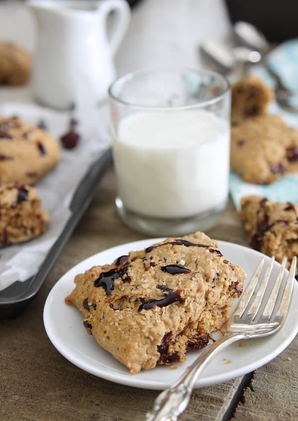 Cherry Dark Chocolate Scones