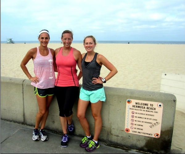 Running in Hermosa Beach, California