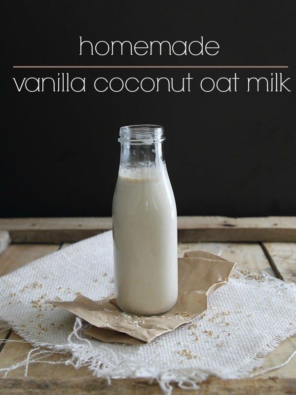 Homemade vanilla coconut oat milk