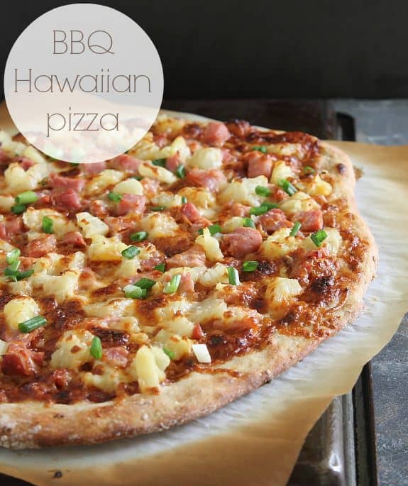 Turn leftover ham into a BBQ Hawaiian pizza when you don't know what to do with all the leftover meat!