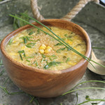 Sweet corn egg drop soup