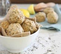 Lemon chia mini muffins