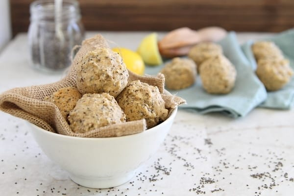 Lemon Chia Mini Muffins with Natural Calm