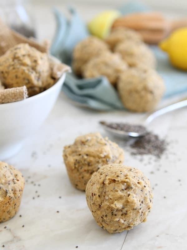 lemon mini muffins with chia seeds