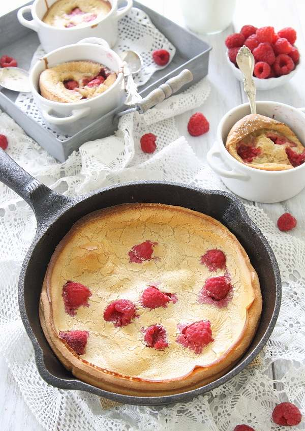 This gluten free raspberry lemon dutch baby is a delicious alternative to normal pancakes when you want something a little special for breakfast.