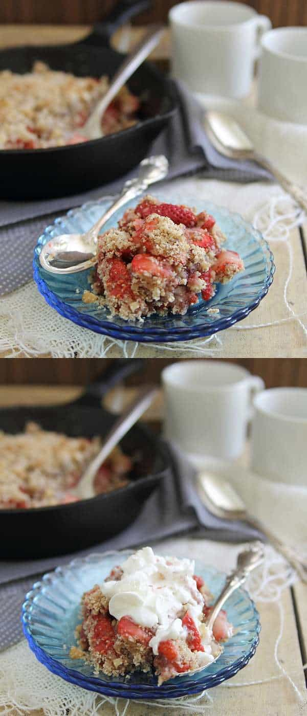 An easy recipe for strawberry ginger crisp that's paleo, gluten-free and vegetarian.