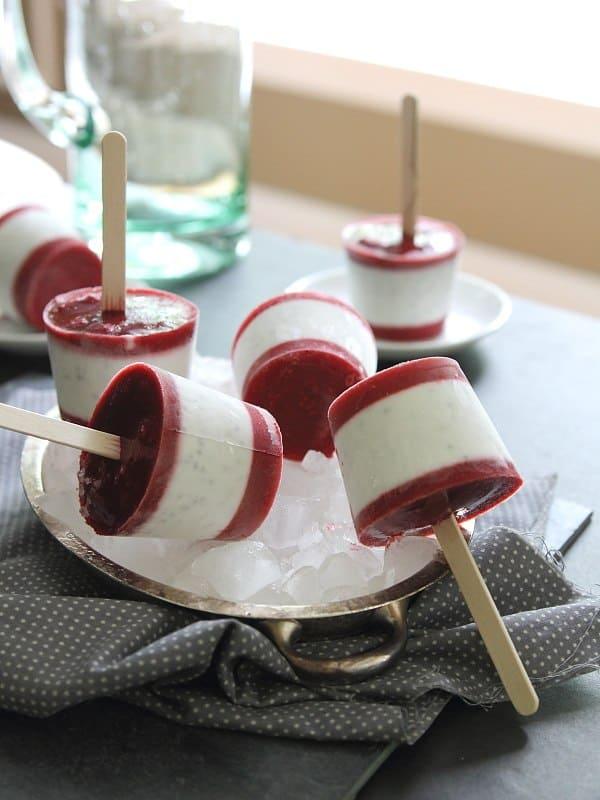 Raspberry Coconut Milk Ice Pops