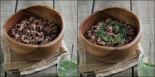 Wild rice salad with mango jicama and cabbage in a cilantro mango dressing