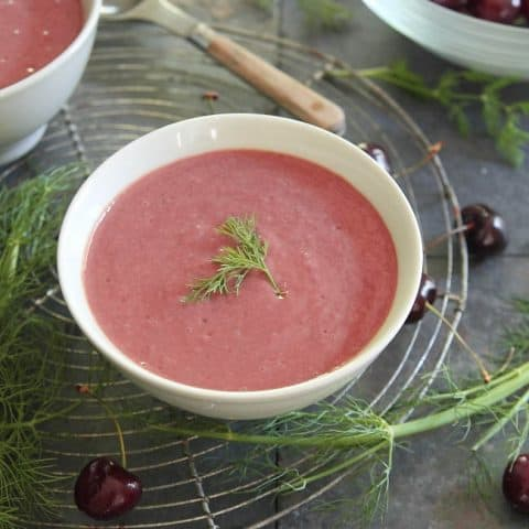 Chilled Cherry Fennel Soup