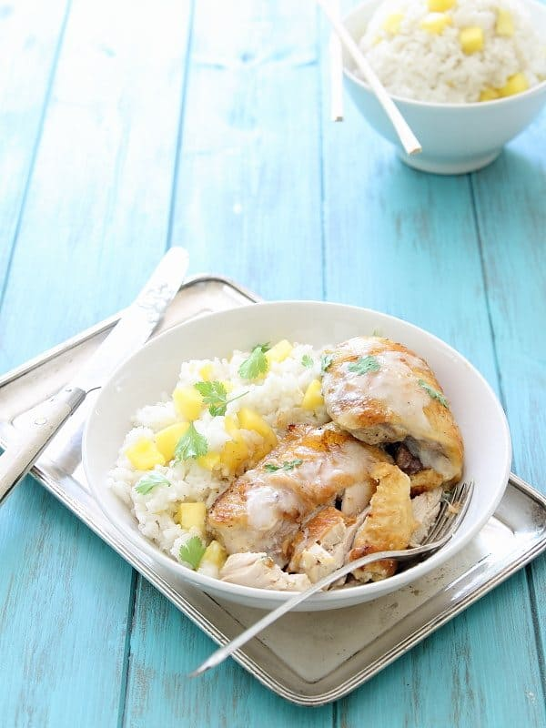 Coconut lime baked chicken