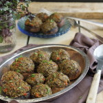 Olive and roasted garlic tapenade stuffed mushrooms