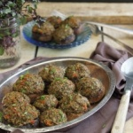 garlic tapenade stuffed mushrooms