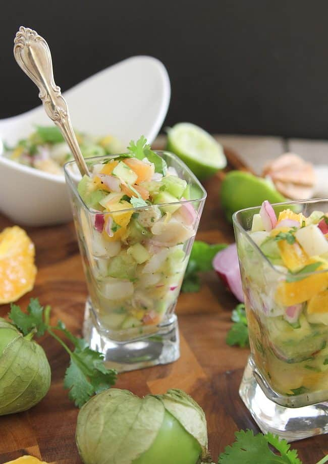 Grilled scallop citrus ceviche - Running to the Kitchen