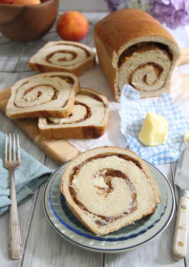peach cinnamon swirl bread