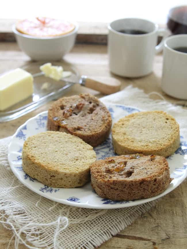2 Minute Paleo English Muffins: 2 Ways