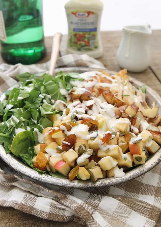 Blue Cheese Chicken Potato and Apple Salad