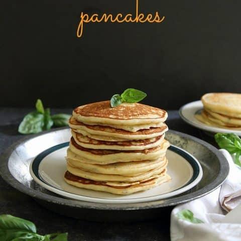 Orange Basil Ricotta Pancakes