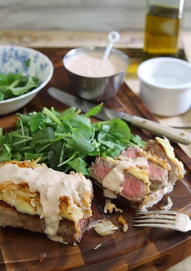 Reuben Strip Steak