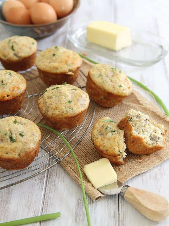 Sausage cheddar muffins