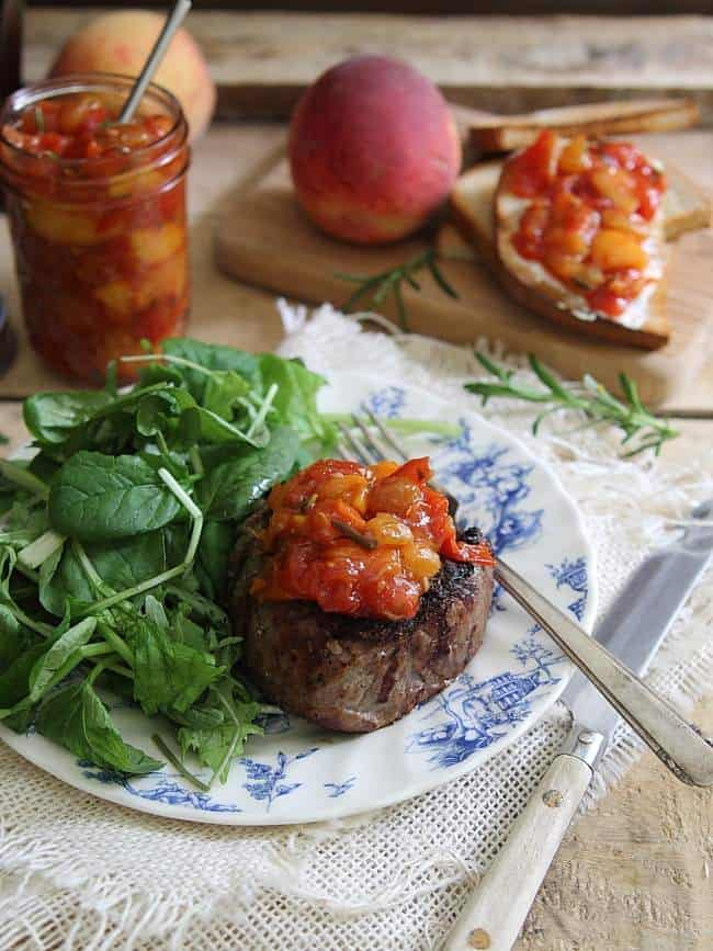 Tomato peach chutney
