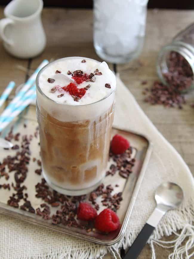 raspberry iced coffee