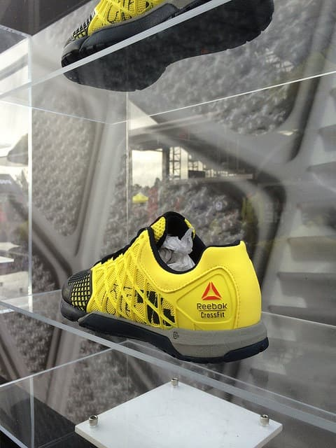 yellow crossfit shoe
