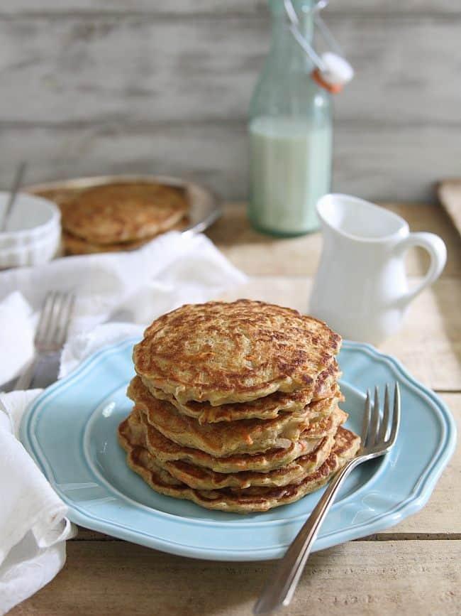 Apple carrot cake pancakes