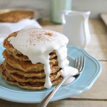 Apple carrot cake pancakes 450x450
