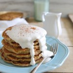 Apple carrot cake pancakes