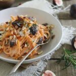 Goat cheese sweet potato noodles with caramelized figs 450x450