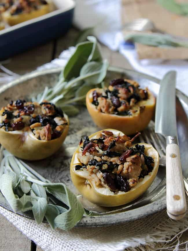 Turkey and Sage Stuffed Apples