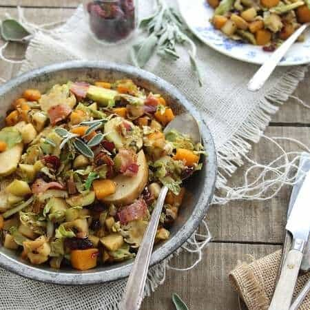 Brussels sprouts pumpkin and apple hash 450x450