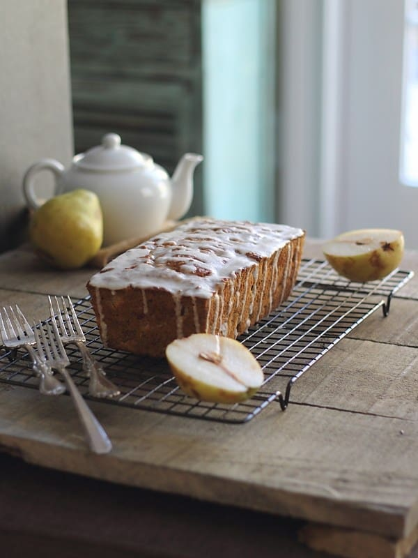 Granola pear bread