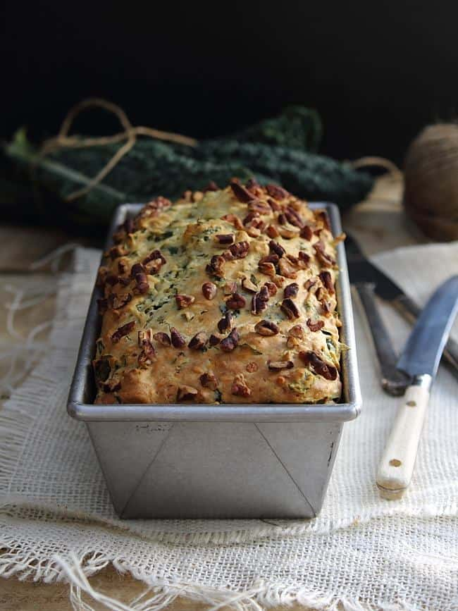 Savory kale and feta bread