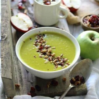 Leek Apple Cheddar Soup