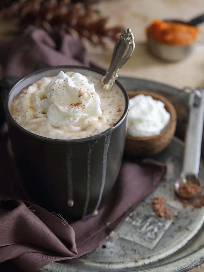Pumpkin hazelnut hot chocolate