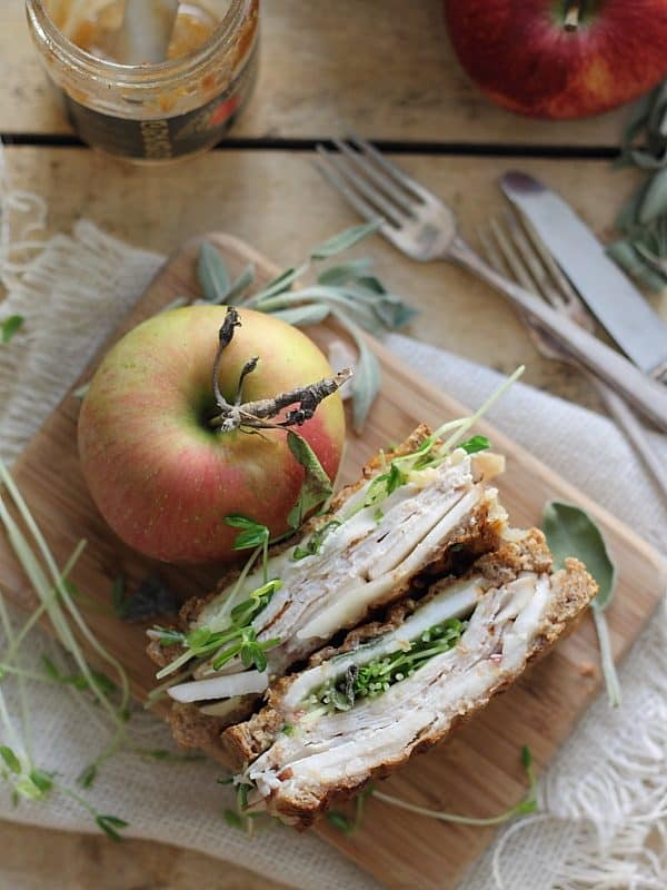 Turkey cheddar and apple butter panini