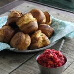 Pumpkin Popovers with Cranberry Relish