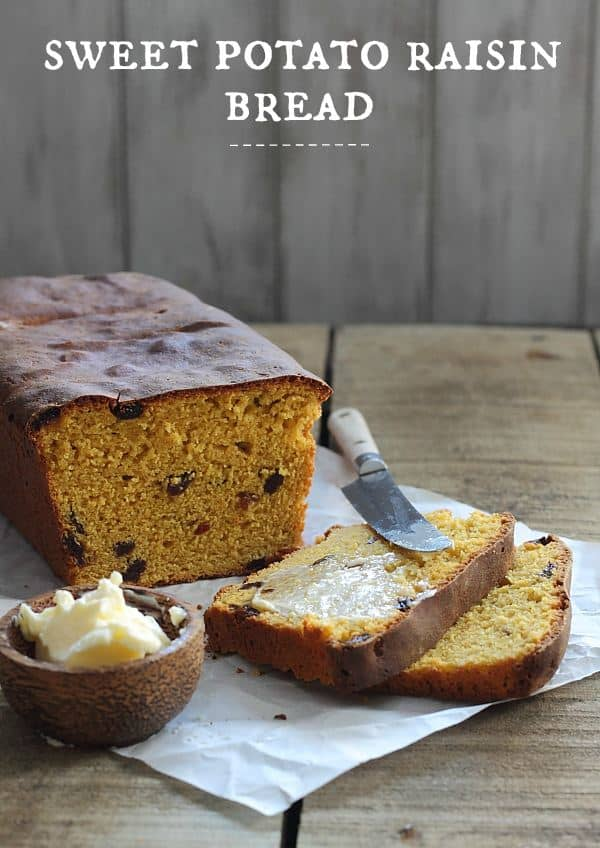 Sweet potato raisin bread