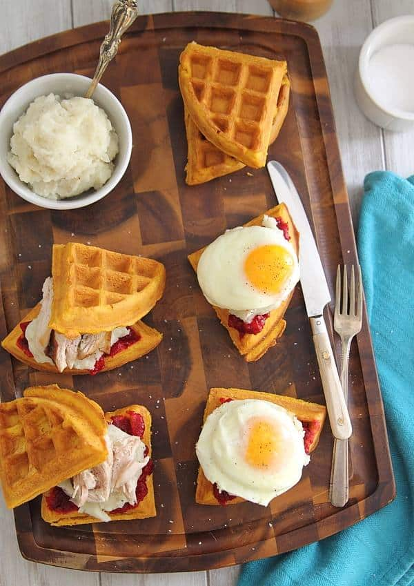 Thanksgiving leftover breakfast sandwiches