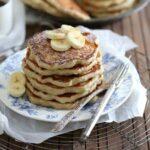 Banana nutmeg pancakes 450x450