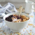 Blueberry farro yogurt bowl
