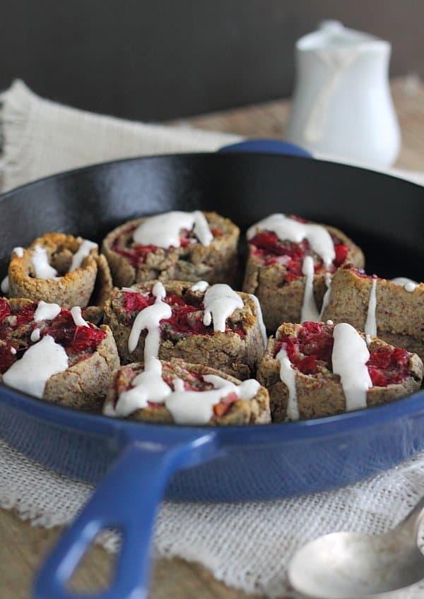 Cranberry cherry cinnamon rolls