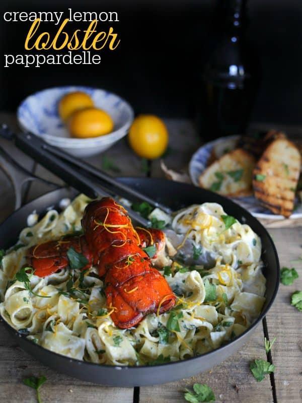 Creamy Lemon Lobster Pappardelle