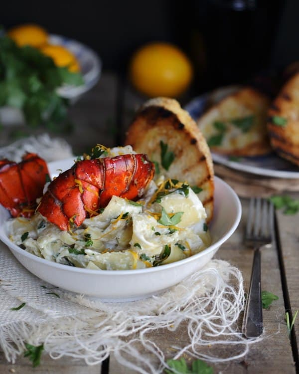 Lemon Lobster Pappardelle in Creamy Goat Cheese Sauce